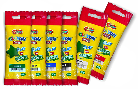 Masa kredkowa marki Dong-A w pojedynczych opakowaniach